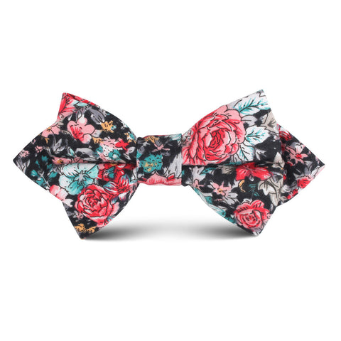 Sardinia Bloom Floral Kids Diamond Bow Tie
