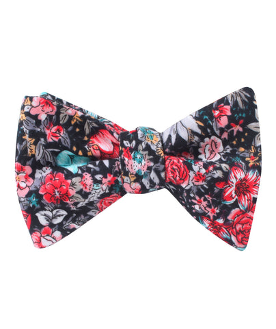 Sardinia Bloom Floral Self Bow Tie