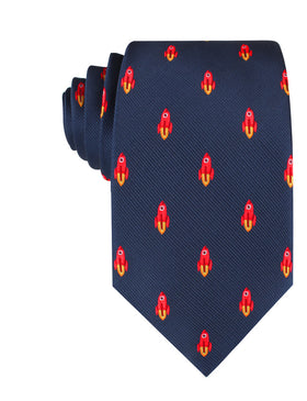 Saturn Red Rocket Necktie