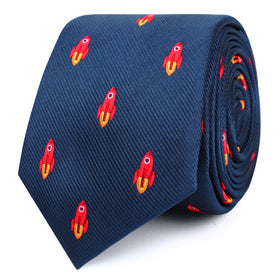 Saturn Red Rocket Skinny Tie