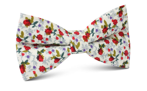 Scarlet Pimpernel Rose Bow Tie