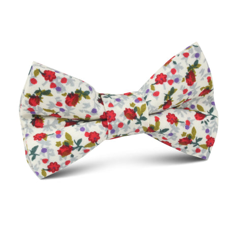 Scarlet Pimpernel Rose Kids Bow Tie