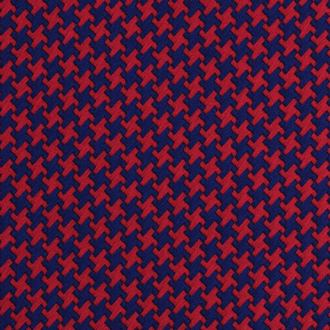 Scarlet Red Houndstooth Diamond Bow Tie