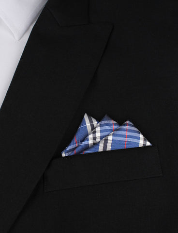 Scotch Blue Pocket Square