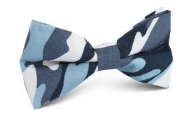 Sea Blue Camo Bow Tie