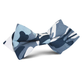 Sea Blue Camo Diamond Bow Tie