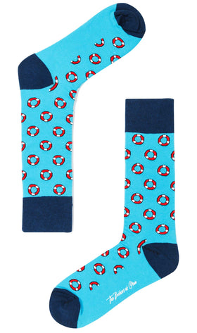 Sea Blue Nautical Float Socks