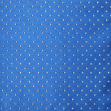 Sea Blue with White Polka Dots Fabric Skinny Tie X445