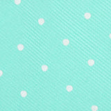 Seafoam Green with White Polka Dots Fabric Self Tie Bow Tie M138