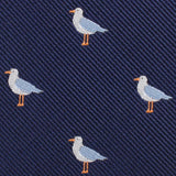 Seagull Bird Fabric Self Bowtie