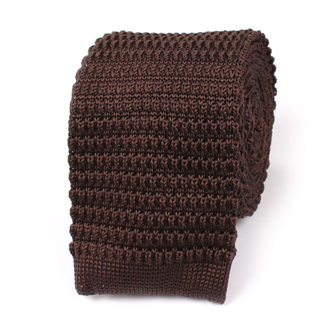 Seal Brown Knitted Tie