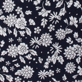 Seoul Forest Black Floral Pocket Square Fabric