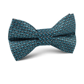 Seychelles Teal Anchor Kids Bow Tie