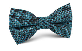 Seychelles Teal Anchor Bow Tie