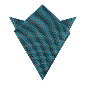 Seychelles Teal Anchor Pocket Square