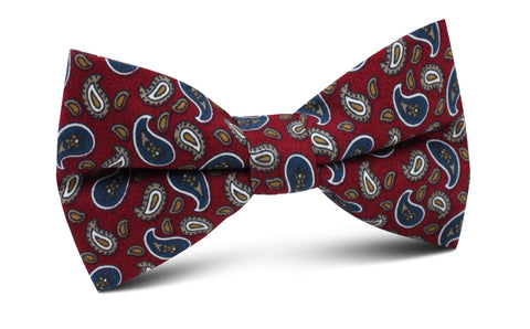 Shah of Iran Burgundy Paisley Bow Tie