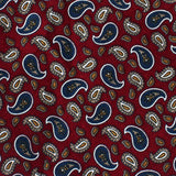 Shah of Iran Burgundy Paisley Pocket Square Fabric