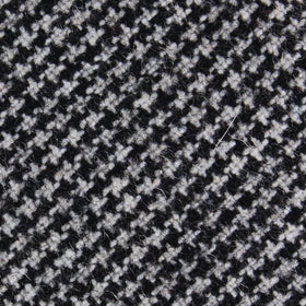 Sheepish Black Houndstooth Wool Pocket Square