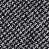 Sheepish Black Houndstooth Wool Fabric Skinny Tie