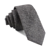Sheepish Black Houndstooth Wool Skinny Tie