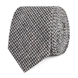 Sheepish Black Houndstooth Wool Slim Tie
