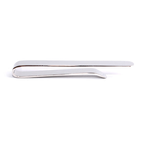 Shining Silver Round Clasp Tie Bar