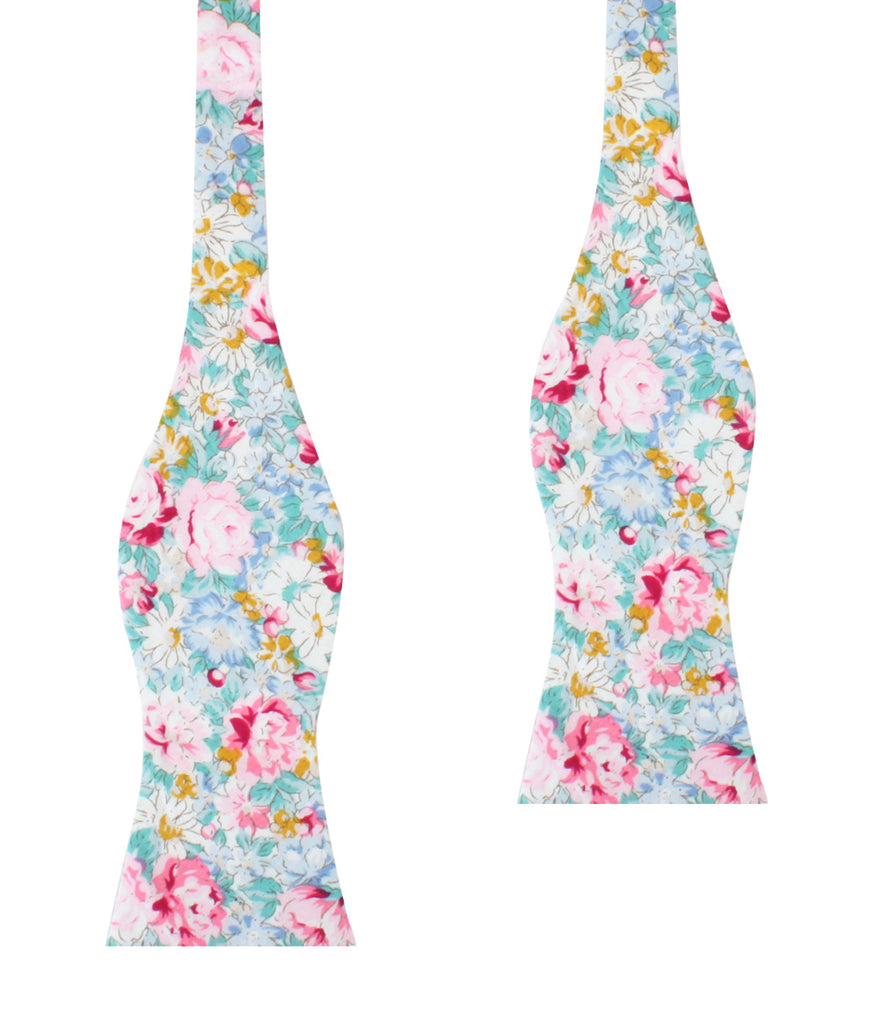 Shinjuku Floral Self Bow Tie