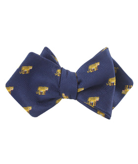 Siberian Tiger Diamond Self Bow Tie