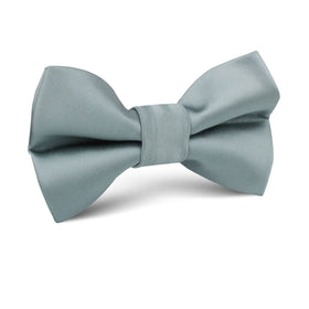 Silver Sage Satin Kids Bow Tie