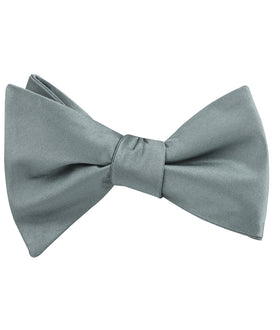 Silver Sage Satin Self Bow Tie