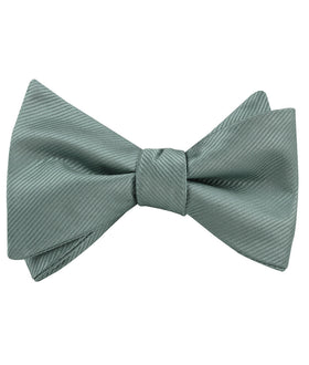 Silver Sage Twill Self Bow Tie
