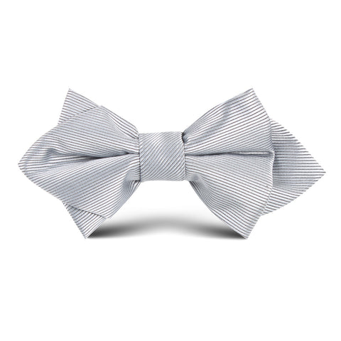 Silver Kids Diamond Bow Tie
