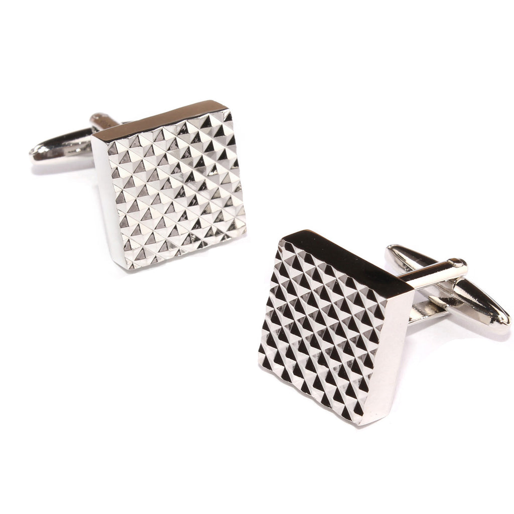 Silver Matrix Cufflinks
