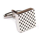 Silver Matrix Cufflinks Middle OTAA