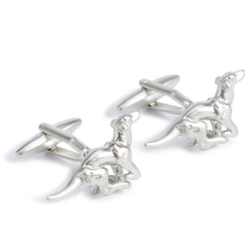 Silver Racing Hound Cufflinks