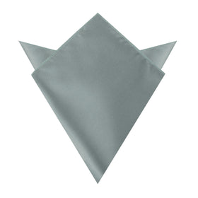 Silver Sage Satin Pocket Square