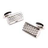 Silver Studded Diamond Pyramid Cufflinks