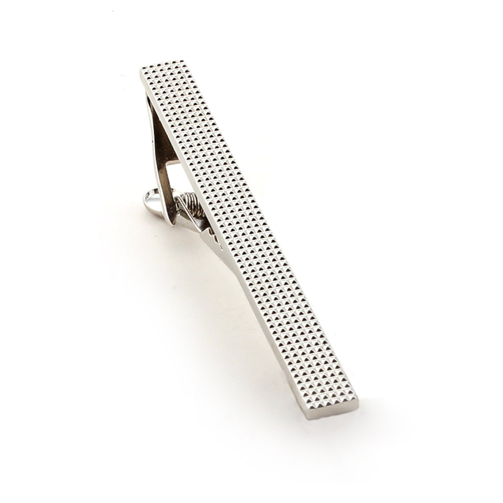 Silver Studded Tie Bar
