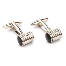Silver Ribbed Cufflinks