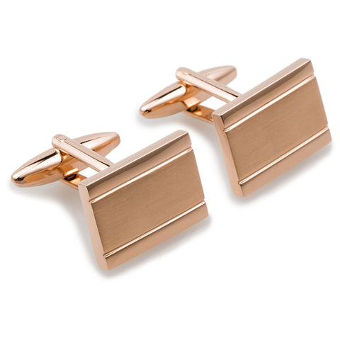 Simon Bolivar Rose Gold Rectangle Cufflinks