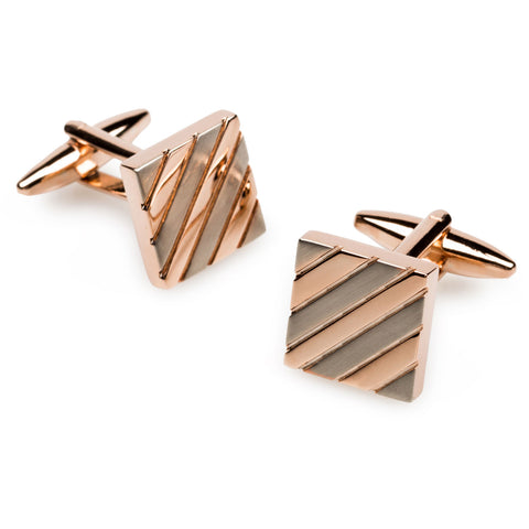 Sir Ian McKellen Rose Gold Cufflinks