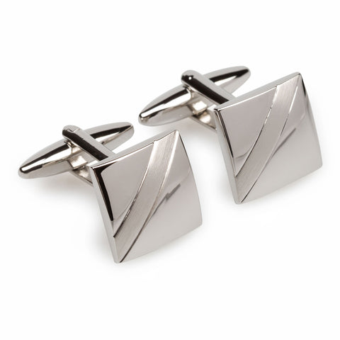 Sir Stirling Moss Silver Cufflinks