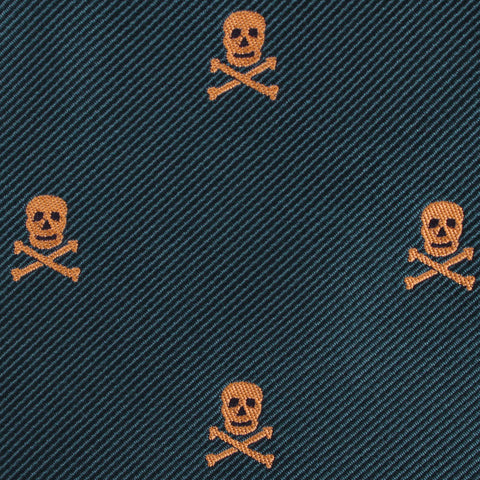 Skull & Crossbones Green Pocket Square