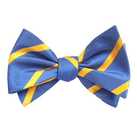 Sky Blue Bow Tie Untied with Yellow Stripe