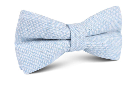 Sky Blue Donegal Linen Bow Tie