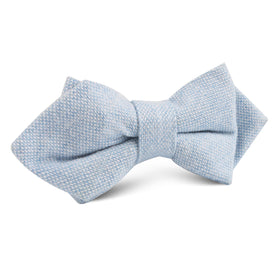 Sky Blue Donegal Linen Diamond Bow Tie