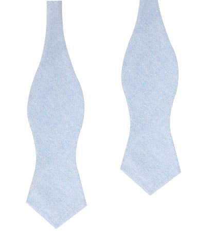 Sky Blue Donegal Linen Diamond Self Bow Tie