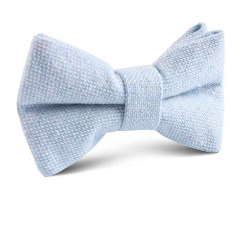 Sky Blue Donegal Linen Kids Bow Tie