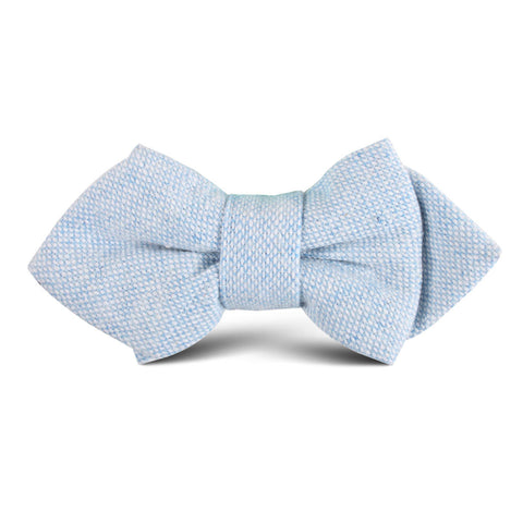 Sky Blue Donegal Linen Kids Diamond Bow Tie