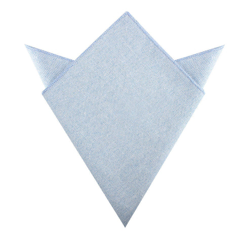 Sky Blue Donegal Linen Pocket Square